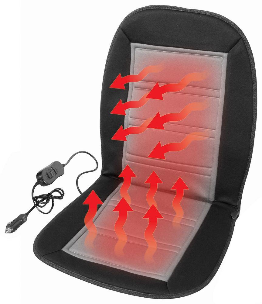 Potah sedadla vyhřívaný s termostatem 12V LADDER šedý *HOBY 0Kg JI-04117