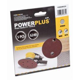POWAIR0124 5x brusný disk 150mm G240 POWERPLUS