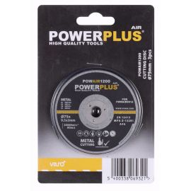 POWAIR1200 - Řezací kotouč 75mm (3ks) POWERPLUS