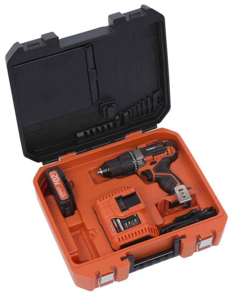 POWDP1515 Aku šroubovák/vrtačka + nabíječka 20V/40V + baterie 20V LI-ION POWERPLUS Nářadí-Sklad 1 | 3
