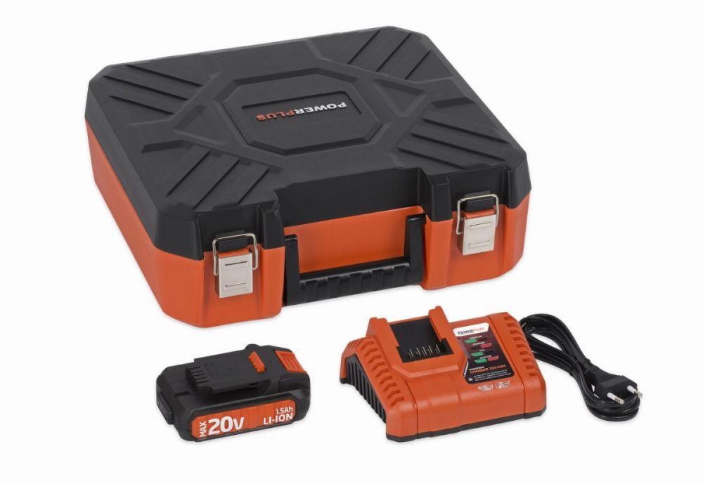 POWDP9066 Nabíječka 20V/40V + Baterie 20V LI-ION 1,5Ah POWERPLUS Nářadí-Sklad 1 | 0