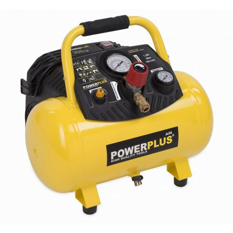 POWX1723 Kompresor 1100W 12L 10bar bezolejový POWERPLUS