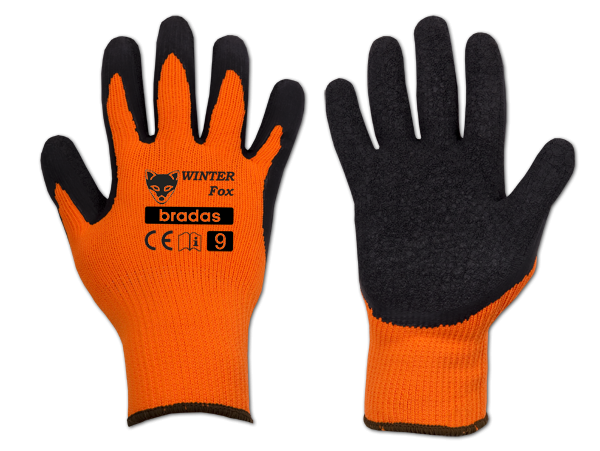 """Pracovní rukavice 10"""", latexové WINTER FOX *HOBY 0Kg BR-RWWF10"""