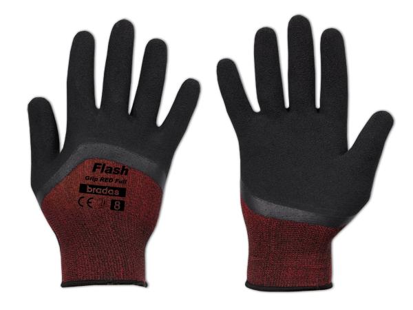 """Pracovní rukavice 11"""", latexové FLASH GRIP RED FULL *HOBY 0Kg BR-RWFGRDF11"""