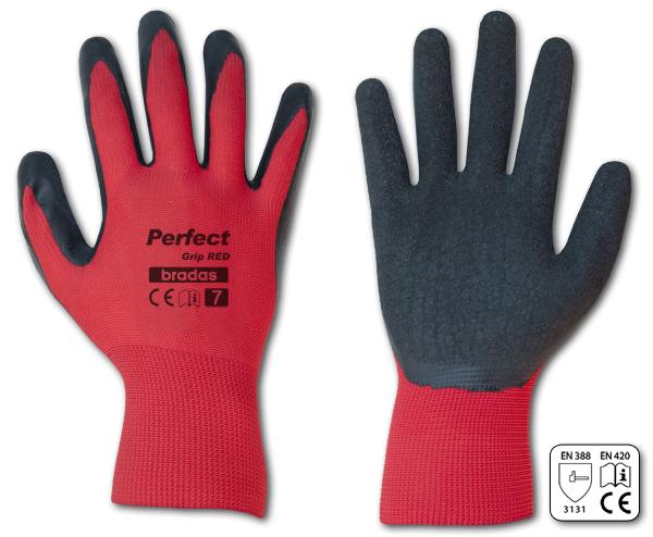 """Pracovní rukavice velikost 7"""", červeno-černé PERFECT GRIP RED *HOBY 0Kg BR-RWPGRD7"""