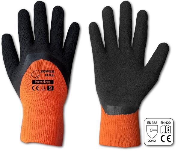 "Pracovní rukavice bavlna-latex 9"" POWER FULL *HOBY 0Kg BR-RWPF9"