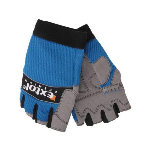 """Pracovní rukavice polstrované bezprsté, velikost XXL/10"""", EXTOL PREMIUM"""