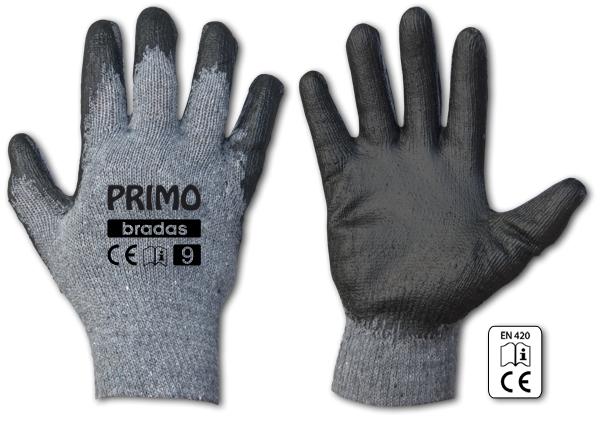 Pracovní rukavice bavlněné PRIMO latex - různé velikosti *HOBY 0Kg BR-RWPR