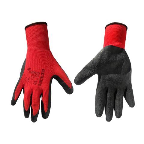 """Pracovní rukavice velikost 10"""", červeno-černé GEKO"""