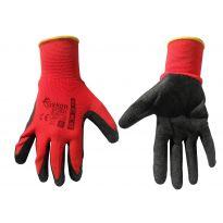 """Pracovní rukavice velikost 9"""", červeno-černé GEKO"""