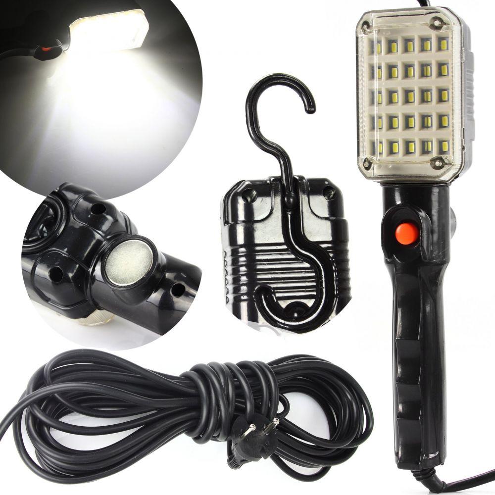 Pracovní svítilna 25 LED, 230V s magnetem a hákem MAR-POL