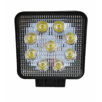 Pracovní svítilna 9 LED, 27W, hranatá TITANIUM WINCH