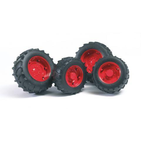 Přídavná kola pro traktory série 20xx, červená 02322 BRUDER