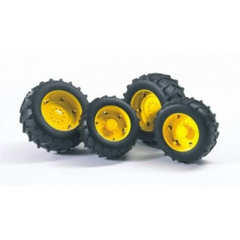 Přídavná kola pro traktory série 20xx,  žlutá 02321 BRUDER