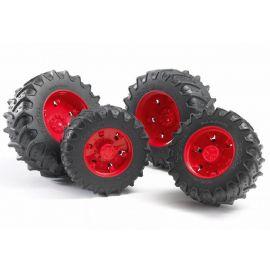 Přídavná kola pro traktory série 30xx, červená 03313 BRUDER