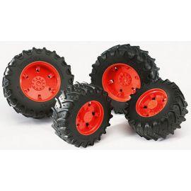 Přídavná kola pro traktory série 30xx, oranžová 03312 BRUDER