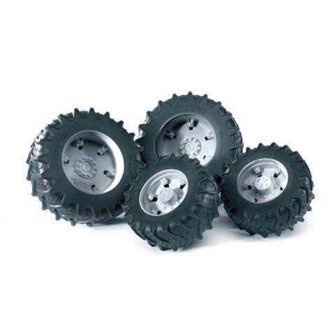 Přídavná kola pro traktory série 30xx, stříbrná 03317 BRUDER
