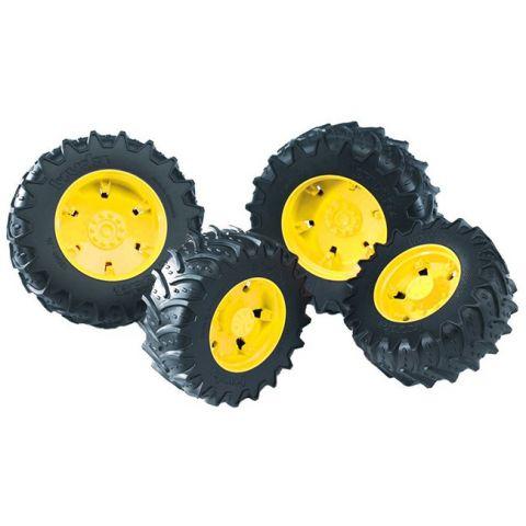 Přídavná kola pro traktory série 30xx, žlutá 03314 BRUDER