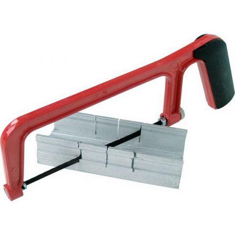 Přípravek na řezání úhlů s pilou, 135mm, hliníkový přípravek 135x47x23mm, úhly řezu 45° a 90°, EXTOL CRAFT