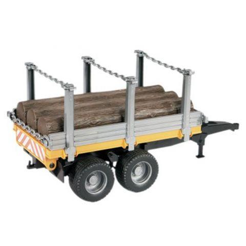 Přívěs na dřevo + 3 klády 02213 BRUDER