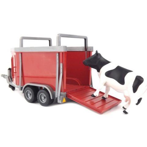 Přívěs na hospodářská zvířata + kráva 02029 BRUDER