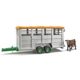 Přívěs na hospodářská zvířata velký + kráva 02227 BRUDER