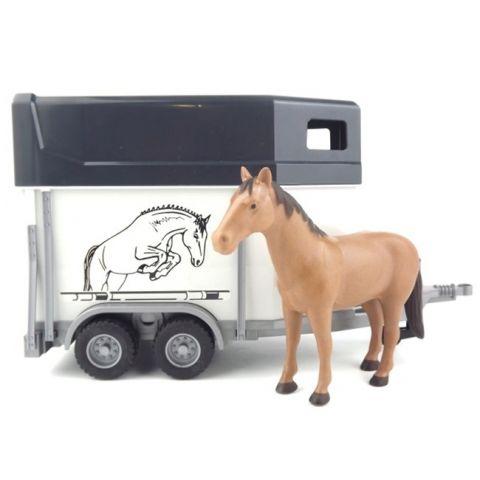 Přívěs na koně + kůň 02028 BRUDER