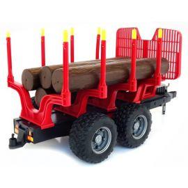 Přívěs, přepravník na dřevo + 4 klády 02251 BRUDER