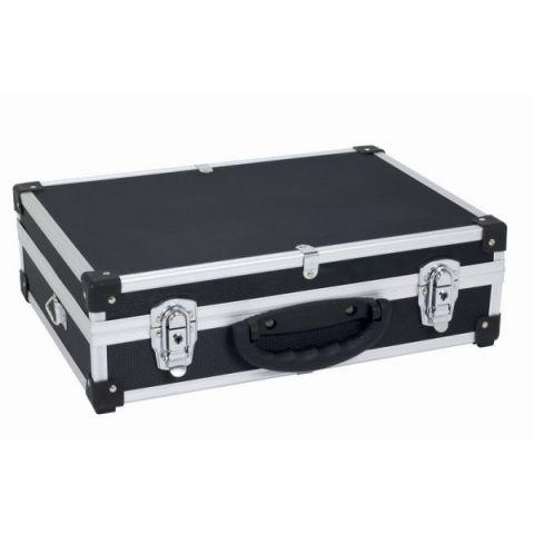PRM10101B Hliníkový kufr se zámky 425x305x125 mm černý POWERPLUS
