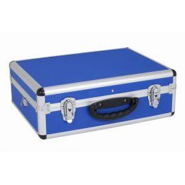 PRM10102BL Hliníkový kufr se zámky 460x330x160 mm modrý POWERPLUS