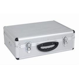 PRM10102S Hliníkový kufr se zámky  460x330x160mm stříbrný POWERPLUS