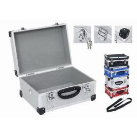 PRM10106R Hliníkový kufr se zámky 320x230x150 mm červený POWERPLUS