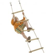 Provazový žebřík 1,95m, 5 příček, 2 zavěšení, lano PP10 KAXL