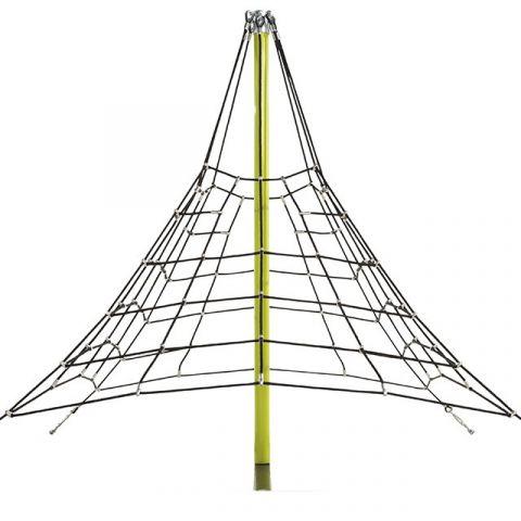 Pyramidová šplhací síť pro děti z výztužného lana KAXL