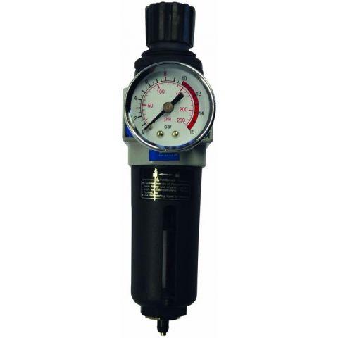 """Redukční ventil / odlučovač vody s filtrační vložkou 1/4"""" GÜDE"""
