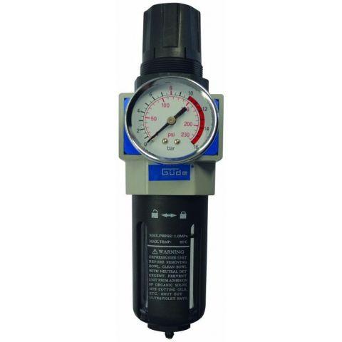Redukční ventil s filtrem / odlučovačem vody 3/8, GÜDE