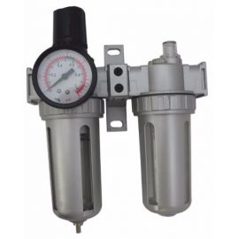 "Regulátor tlaku 1 MPa s filtrem a manometrem a přim. oleje 1/4"" GEKO"