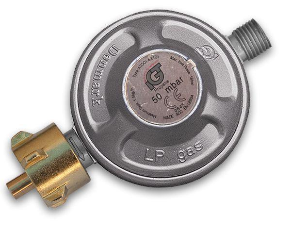 Regulátor tlaku plynu 50mbar, 1,5kg/h RG A310-002, se závitem *HOBY 0.18Kg BR-RG A310-002