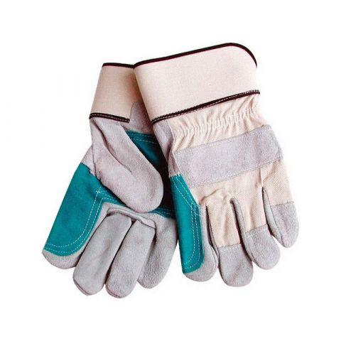 Rukavice kožené silné s podšívkou v dlani, velikost 10''