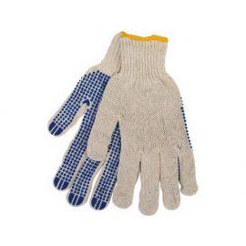 Rukavice polyester s PVC terčíky na dlani, velikost 10'', 11360200200
