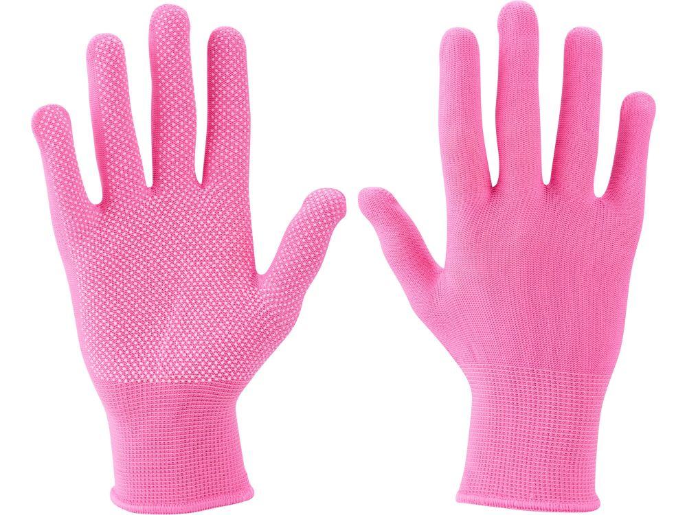 """Rukavice z polyesteru s PVC terčíky na dlani, velikost 7"""" EXTOL LADY *HOBY 0Kg 99719"""
