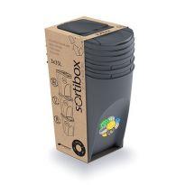 Sada 3 odpadkových košů 3x35l SORTIBOX antracit