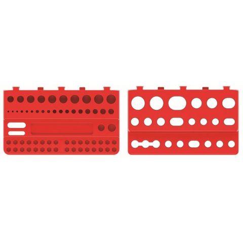 Sada držáků na nářadí BINEER SHELFS 190x111mm, červená, 2 ks KISTENBERG