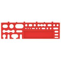 Sada držáků na nářadí BINEER SHELFS 384x111mm, červená, 2 ks KISTENBERG