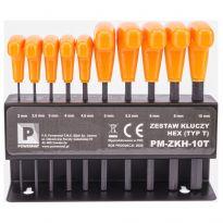 Sada imbusových klíčů 10ks HEX PM-ZKH-10T POWERMAT