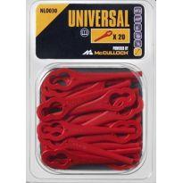 Sada plastových nožů 20ks NLO030 UNIVERSAL