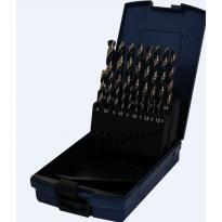 Sada spirálových vrtáků HSS-RATIO 19ks, 1-10mm, černozlaté PTG