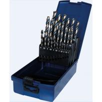 Sada spirálových vrtáků HSS-RATIO 25ks, 1-13mm, černozlaté PTG