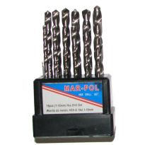 Sada vrtáků na železo HSS-G 1-10mm 19ks MARPOL