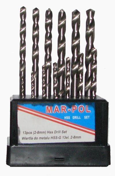 Sada vrtáků na železo HSS-G 2-8mm 13ks MARPOL